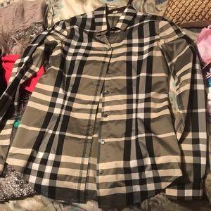 Burberry button down shirt